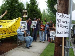 OWLS joins Belshaw strikers on the line in Auburn.