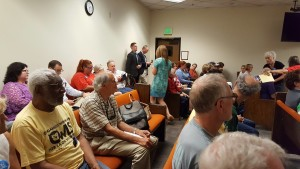 Activists, including from OWLS packed the Courtroom in Olympia on July 29.